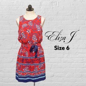 Eliza J Built-In Tie Fit & Flare Dress Size 6